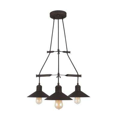 Halstead 3-Light Vintage Bronze Chandelier