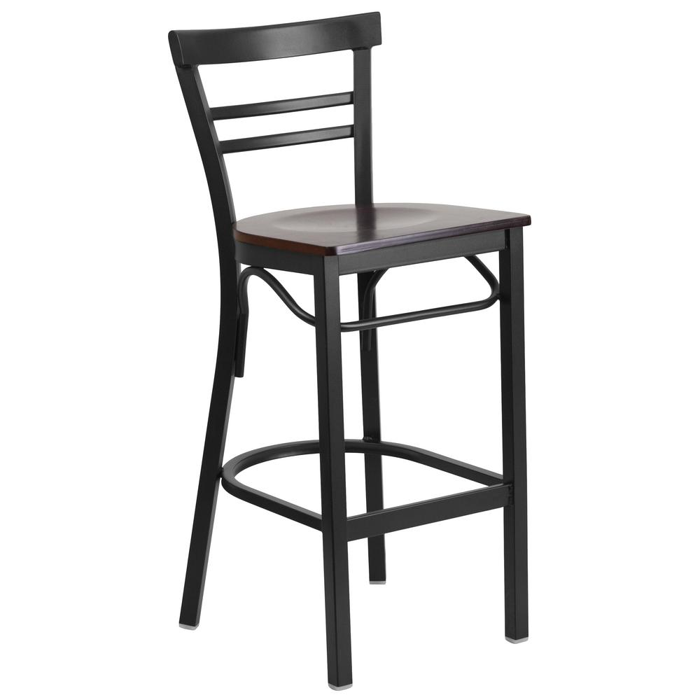 29 in. Black Bar Stool