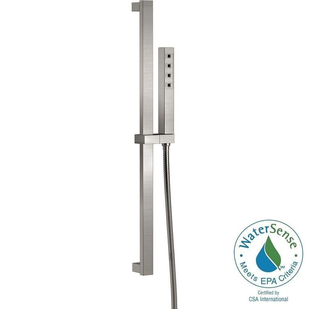 Ara 1-Spray Handshower with Slide Bar in Stainless Featuring H2Okinetic