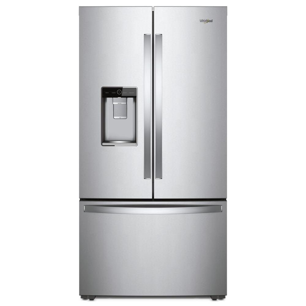 Whirlpool 24 Cu Ft French Door Refrigerator In Monochromatic