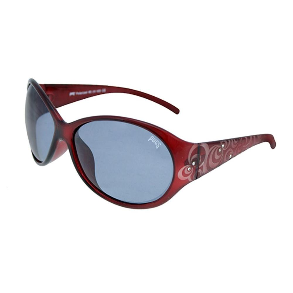 d3087c6466 Pugs Polarized UV400 Lens Durable Round Ladies Style Plastic Frame Metal  Hinge Sunglasses