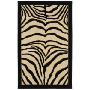 Zebra Safari Black 8 ft. x 10 ft. Area Rug