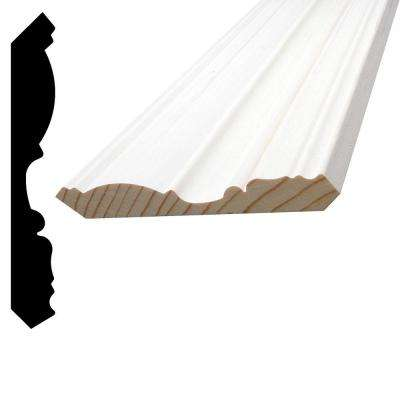 5/8 in. x 4-1/2 in. x 96 in. Primed Pine Finger-Jointed Crown Moulding