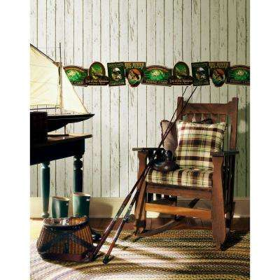 Northwoods Lodge Neutral Weathered Plank Wallpaper Sample
