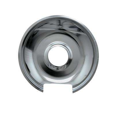 8 in. Large Drip Pan in Chrome (1-Pack)