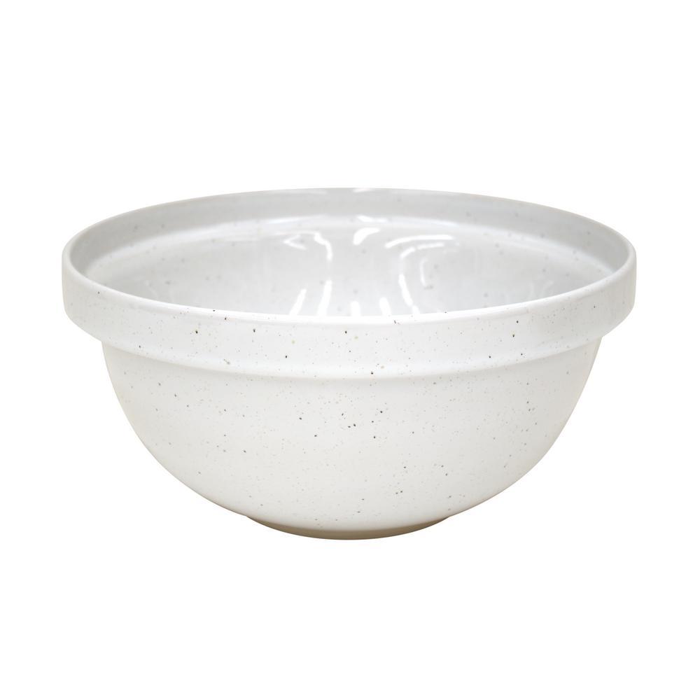Fattoria 12.25 in. 211 fl. oz. White Ceramic Stoneware Serving Bowl