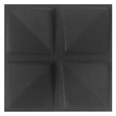 FeltForms 24 in. W x 24 in. L x 2 in. H Black Acoustic Insulation Quad Panels (4-Pack)