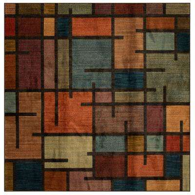 Fairfield Charcoal 8 ft. x 8 ft. Square Area Rug