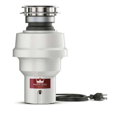 Legend Series 1/3 HP Professional 3-Bolt Mount Continuous Feed Compact Garbage Disposal