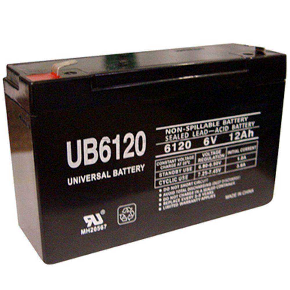 UPG 6-Volt 12Ah Maintenance-Free UL Listed Exit Lighting and Emergency Lighting Security Battery