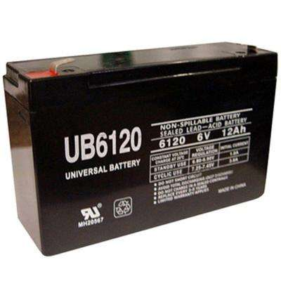 6-Volt 12Ah Maintenance-Free UL Listed Exit Lighting and Emergency Lighting Security Battery