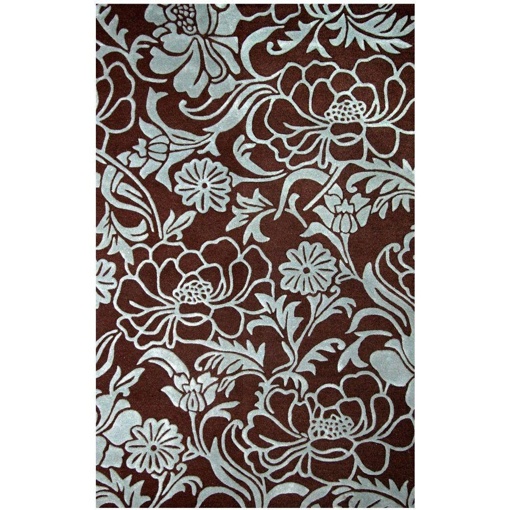Sams International Lifestyle Dresden Chocolate 5 ft. x 8 ft. Area Rug