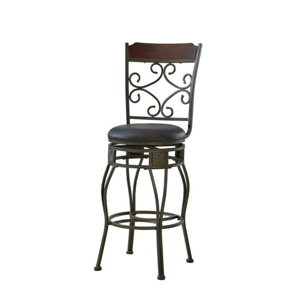 Copper Big and Tall Bar Counter Stool with Stamped Back
