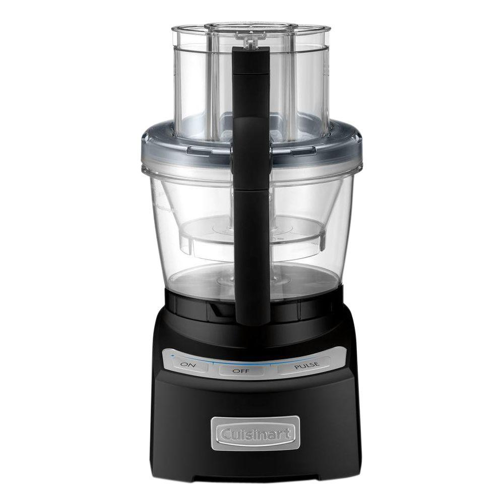 Elite 2.0 Food Processor, Black Combining the Cuisinart tradition of culinary excellence with groundbreaking innovation, the Cuisinart Elite Collection 12-Cup Food Processor sets the bar for the next generation of kitchen appliances. With a 4-cup work bowl nested in the big bowl, plus the adjustable 6-position slicing disc and reversible shredding disc, it provides home chefs with multiple food processors in one. The exclusive SealTight Advantage system is designed to deliver maximum bowl capacity and clean processing and pouring. It is truly the finest food prep appliance available for today's modern kitchen. Color: Black.