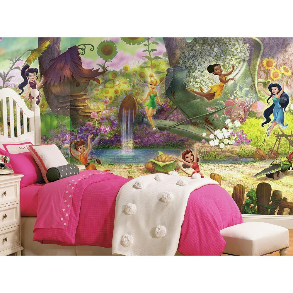 Nice Disney Fairies Pixie Hollow Ultra Strippable Wall Mural JL1279M   The Home  Depot Part 22