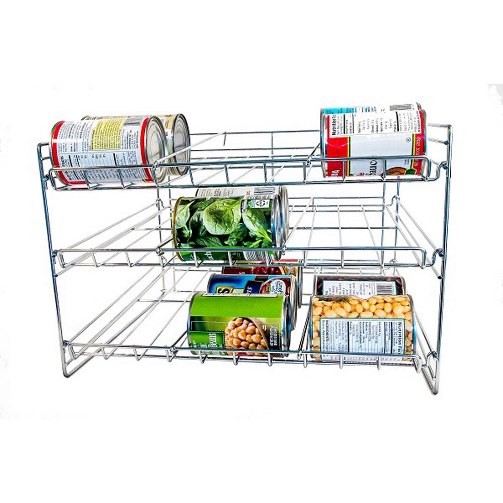 36-Can Capacity Chrome Steel Can Organizer