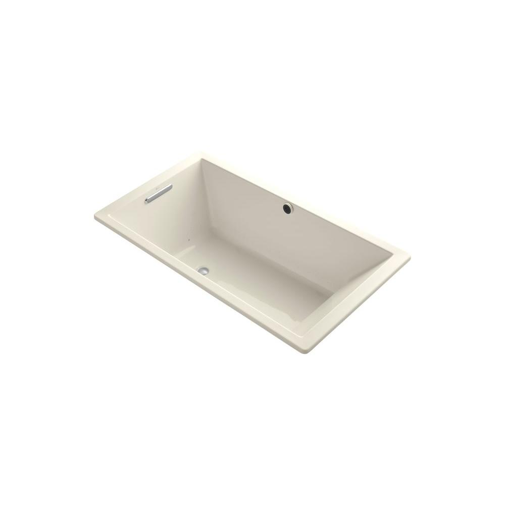 KOHLER Undescore 5.5 ft. Acrylic Rectangular Drop-in Whirlpool Bathtub in Almond