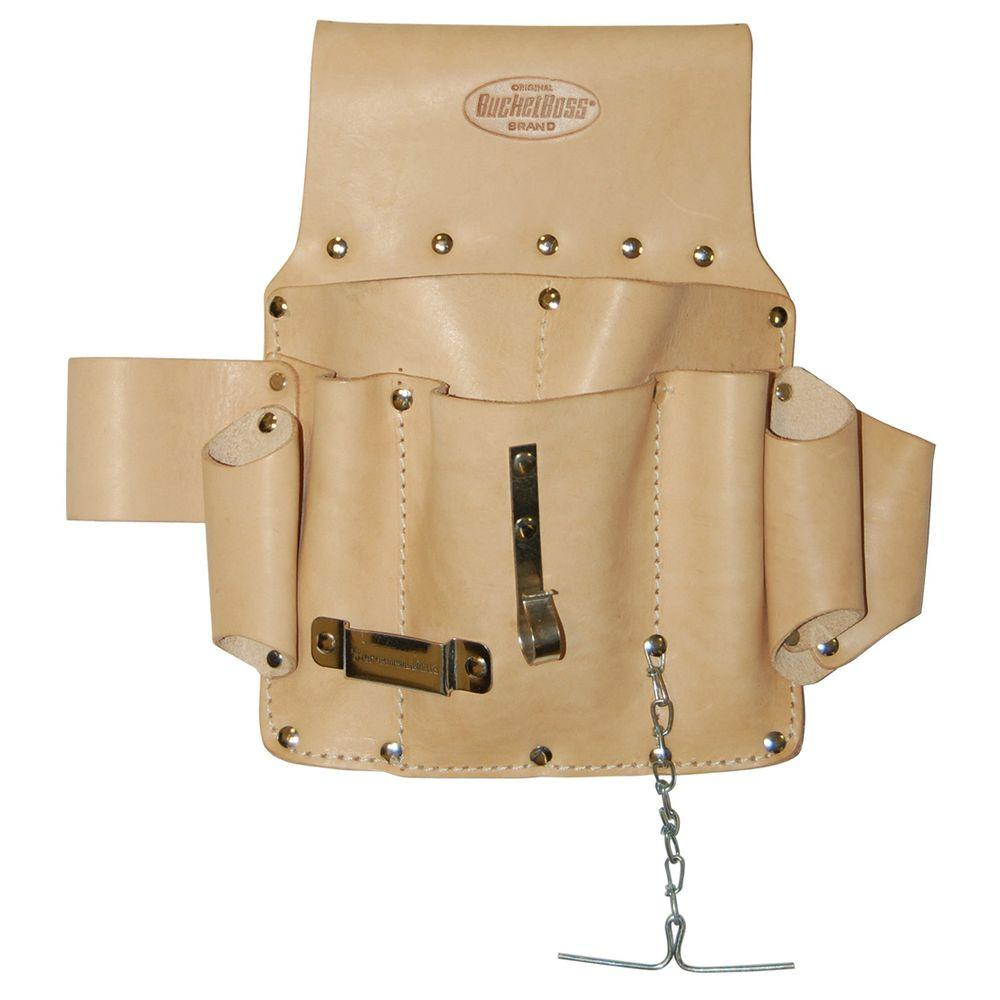 Bucket Boss Saddle Leather Electrician's Pouch