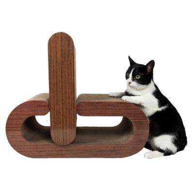 Wood Furrlax Ultra-Premium 2-in-1 Pill Shaped Modular Designer Cat Scratcher
