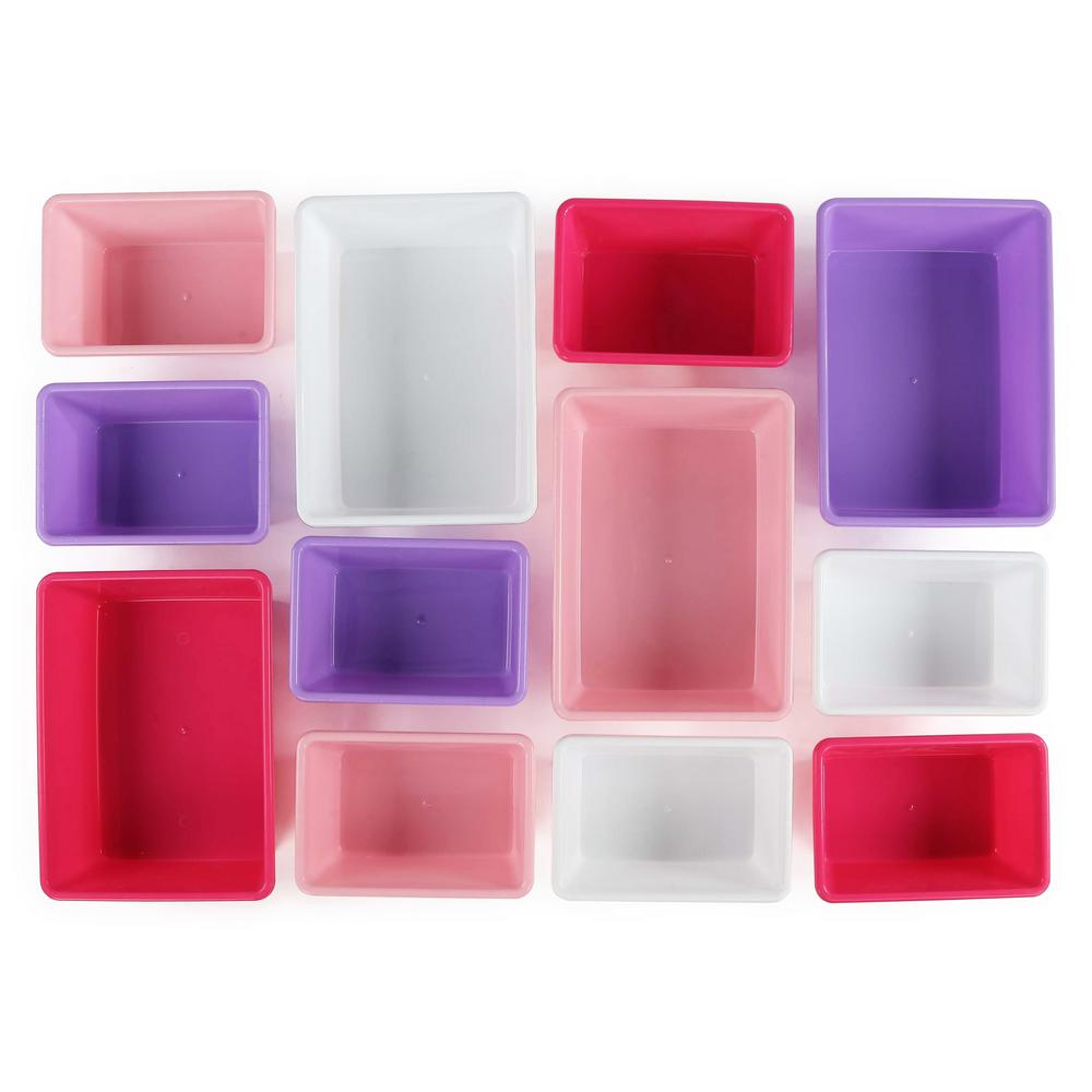 tot tutors kids toy storage box organizer sorter 12 rugged pastel plastic bins ebay. Black Bedroom Furniture Sets. Home Design Ideas