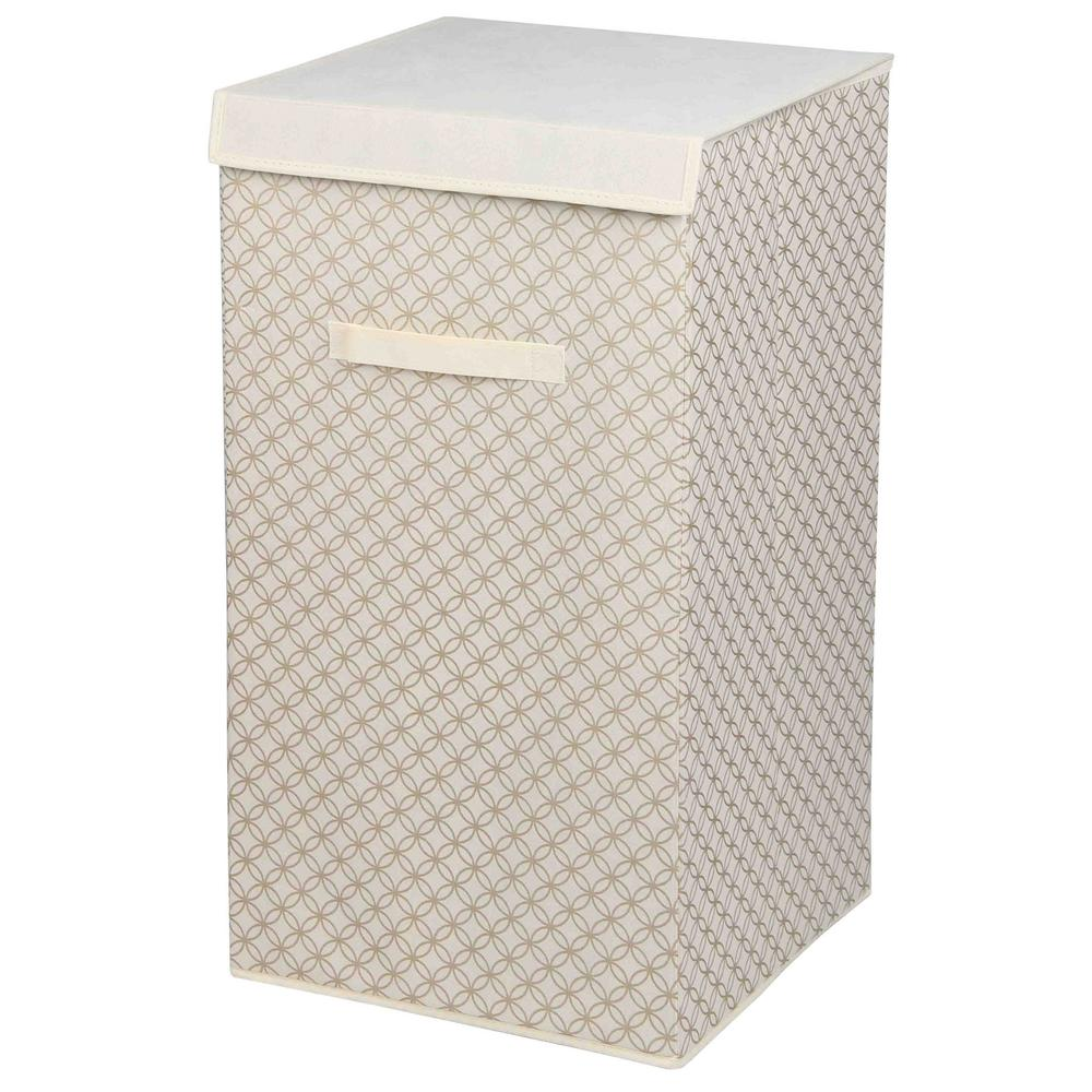 14.25 in. x 24.75 in. Blossom Laundry Hamper in Gold