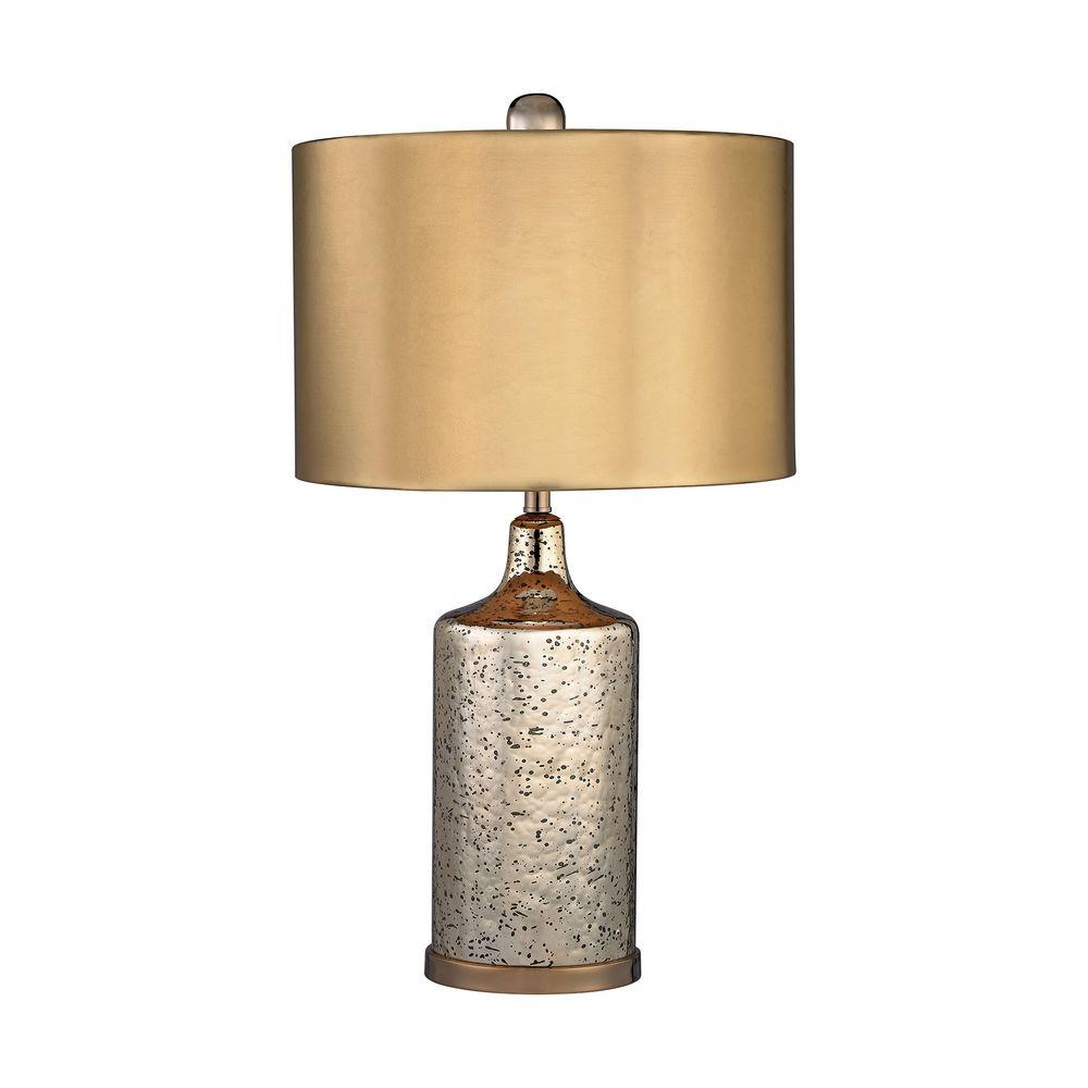 titan lighting 22 in gold mercury table lamp with. Black Bedroom Furniture Sets. Home Design Ideas