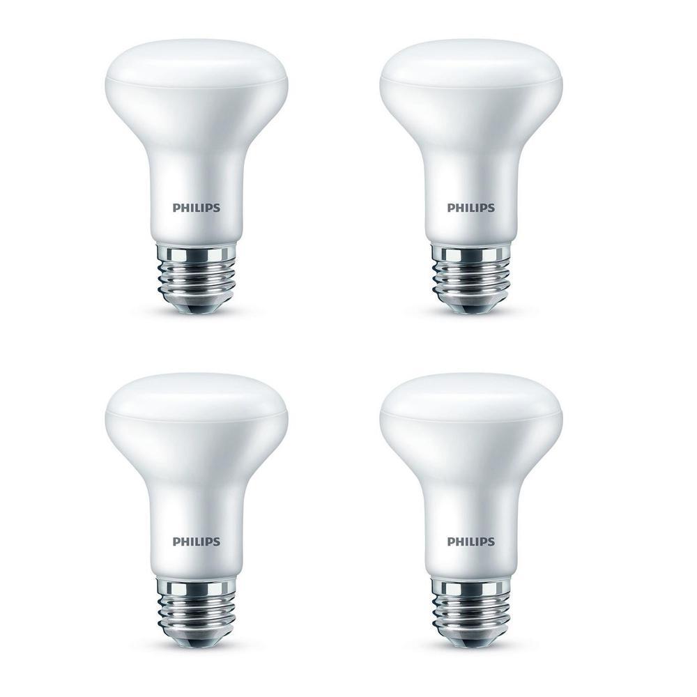 45-Watt Equivalent R20 Dimmable LED Flood Daylight Light Bulb (4-Pack)