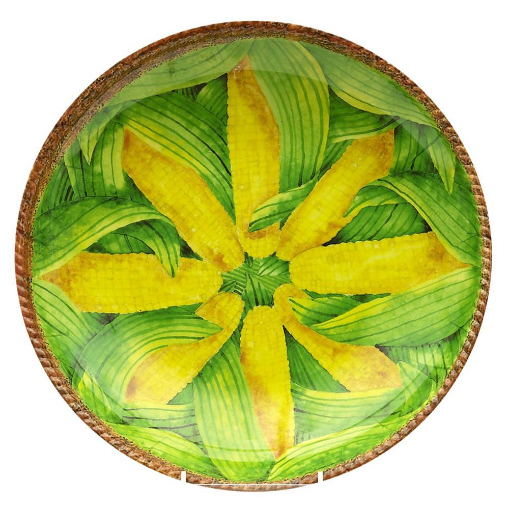 Verdura Yellow/Green Melamine Corn Shallow Bowl