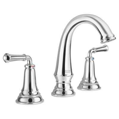 Delancey 8 in. Widespread 2-Handle Bathroom Faucet with Red/Blue Temperature Indicators in Polished Chrome