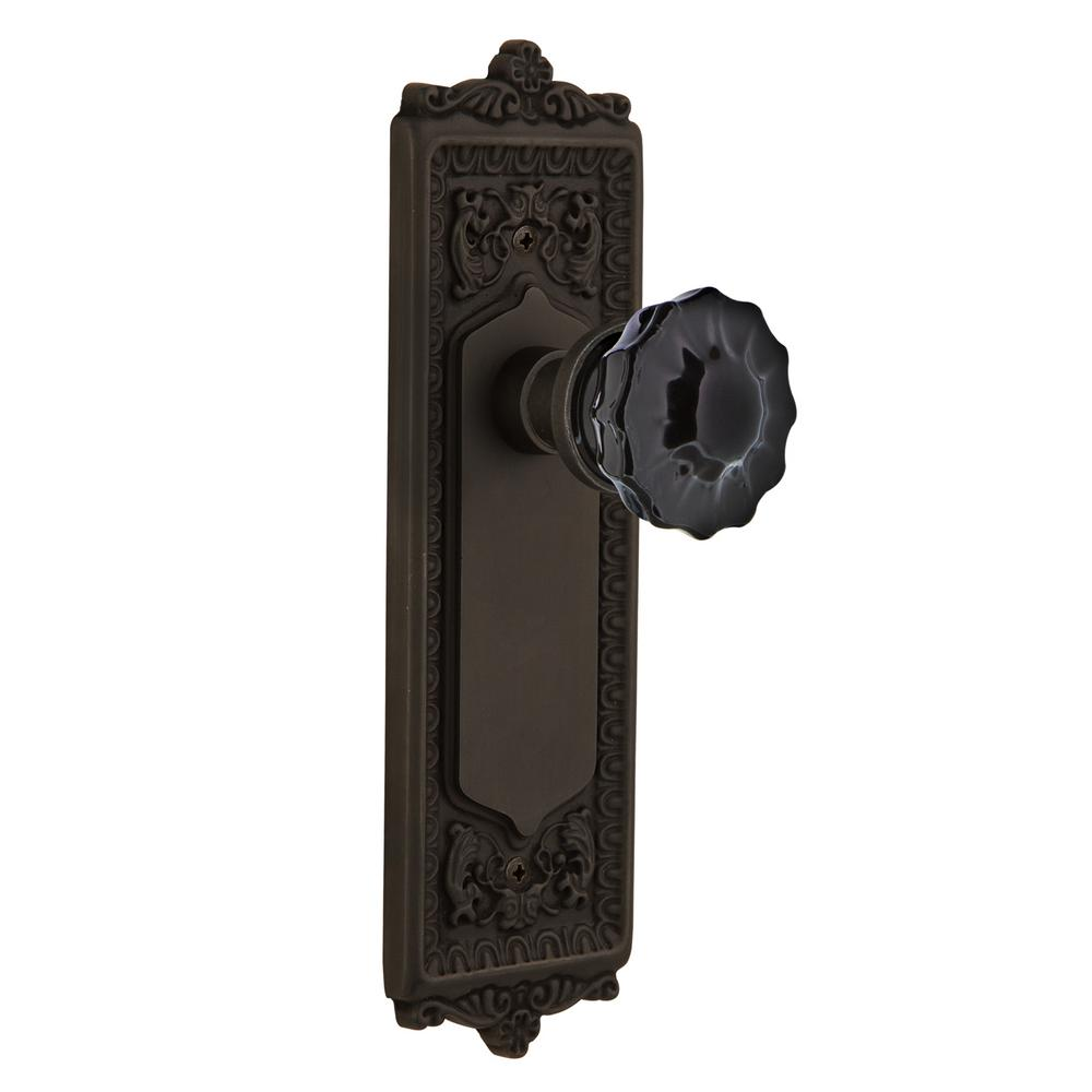 Egg & Dart Plate 2-3/8 in. Backset Oil-Rubbed Bronze Passage Hall/Closet