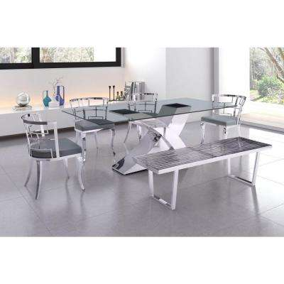 Quince White Stainless Steel Dining Chair (Set of 2)