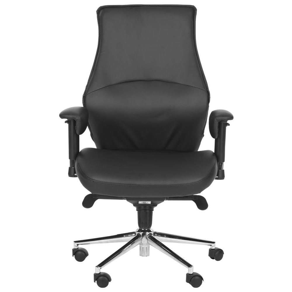 Irving Black Synthetic Leather Office Chair