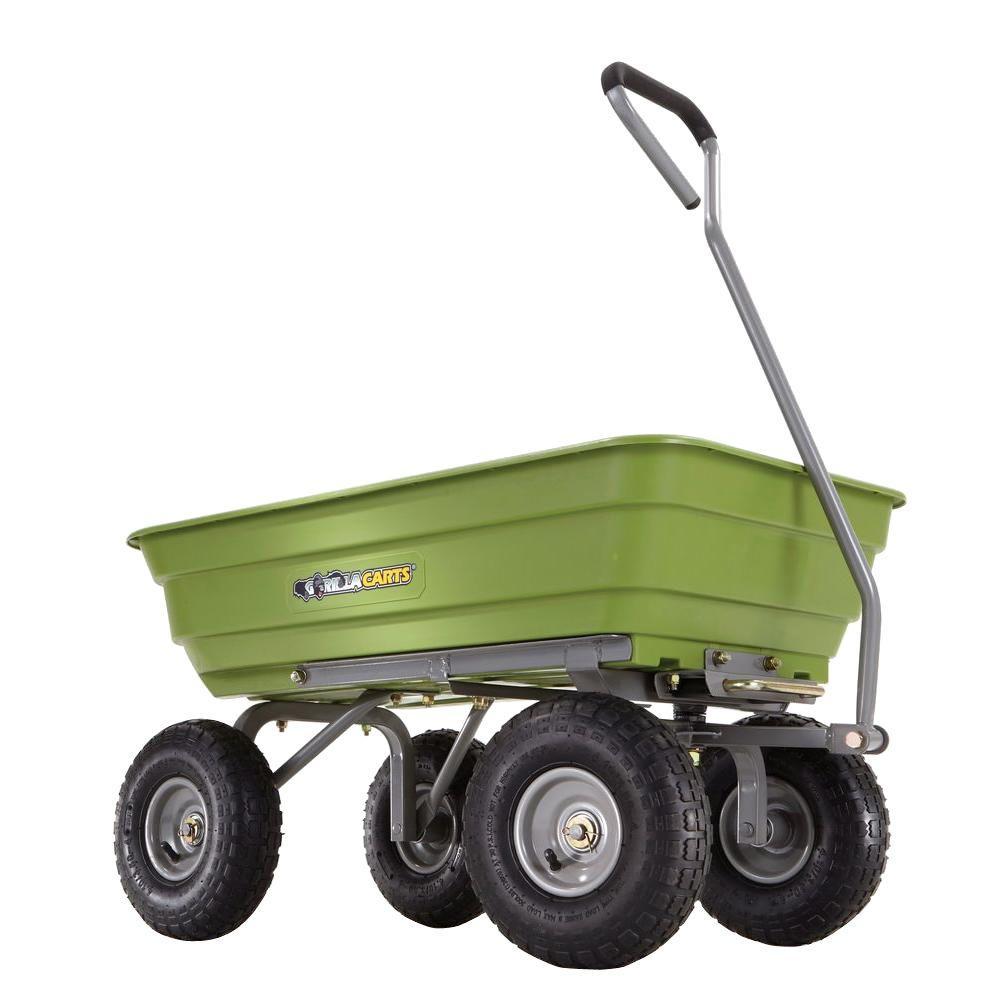 Gorilla Carts 600 Lb Poly Garden Dump Cart Gor4g Com