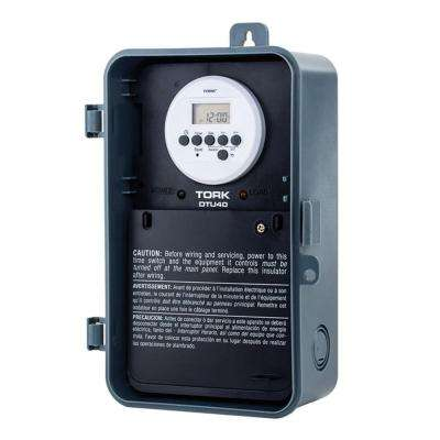 40-Amp Multi-Volt 120/208-240/277 Automatic Voltage Detection 7-Day Digital Time Switch