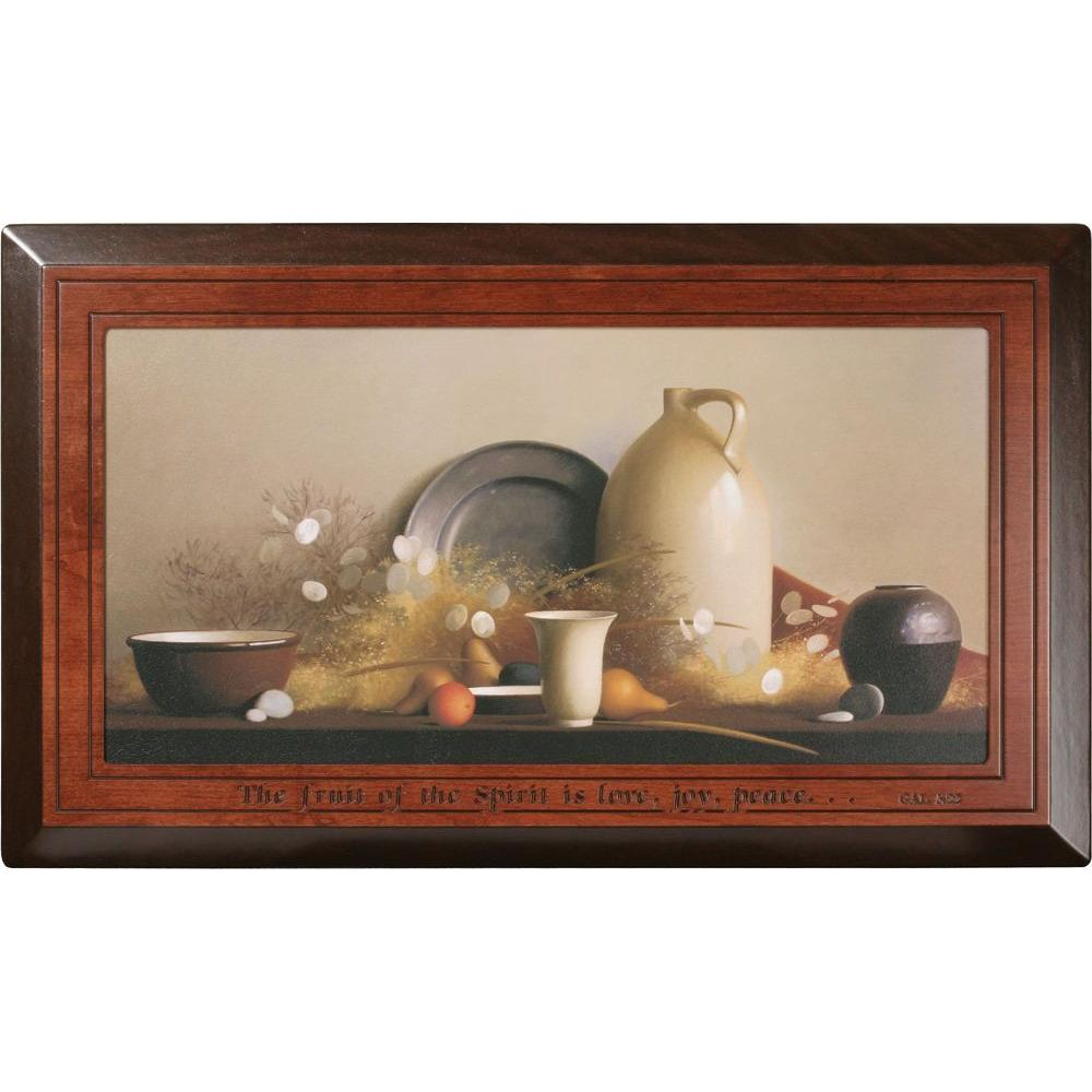 P. Graham Dunn 36.75 in. x 21.5 in. Carved Wood Framed Art Memories