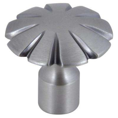 Fluted Collection 1-1/2 in. Pewter Cabinet Knob