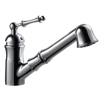 Squire Single-Handle Pull Out Sprayer Kitchen Faucet with CeraDox Technology in Polished Chrome