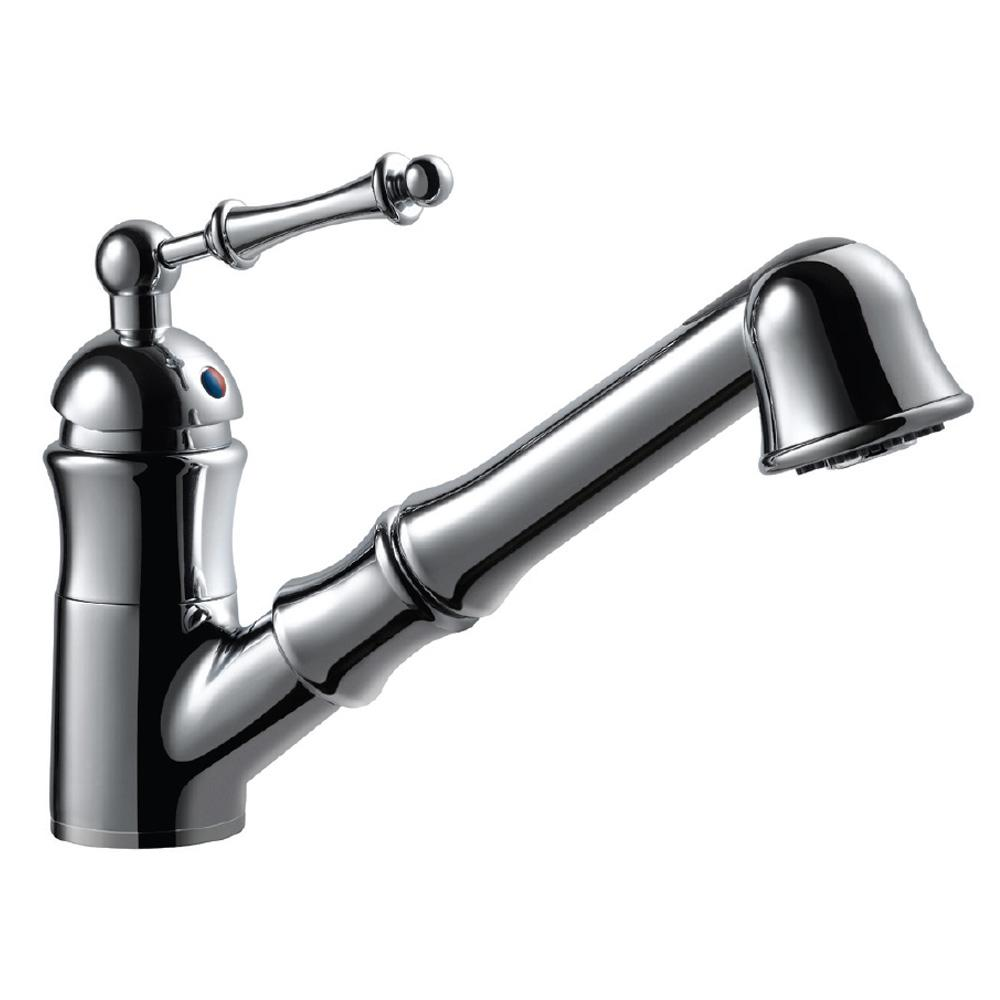 HOUZER Squire Single-Handle Pull Out Sprayer Kitchen Faucet with ...