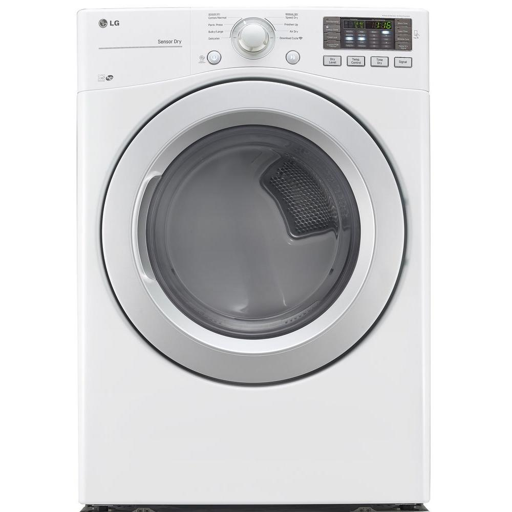 LG Electronics 7.4 cu. ft. Electric Dryer in White, ENERGY STAR