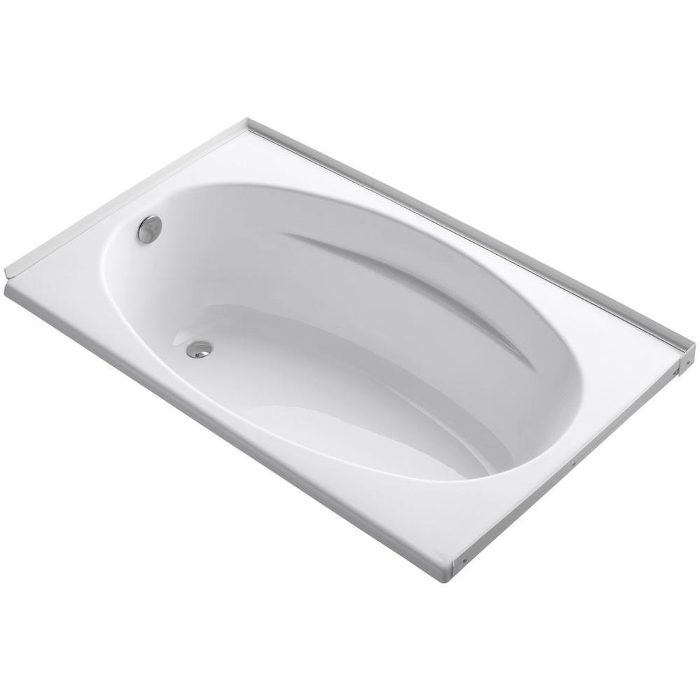 Proflex 5 ft. Left-Hand Drain with Flange Bathtub in White