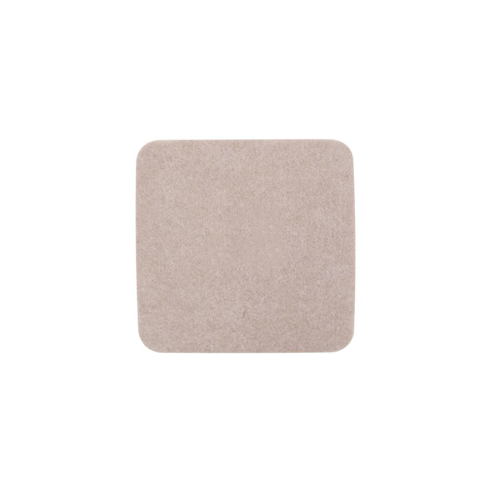 Beige Reusable Felt Square Furniture Sliders For Hard Floors 4 Pack