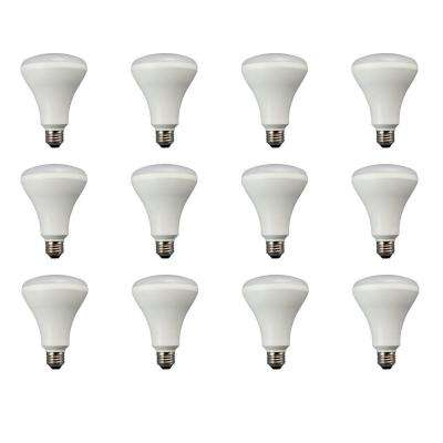 65W Equivalent Daylight BR30 Non Dimmable LED Flood Light Bulb (12-Pack)