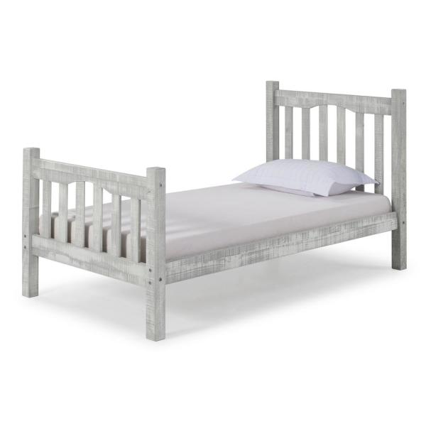 Rustic Mission Twin Bed, Rustic Gray