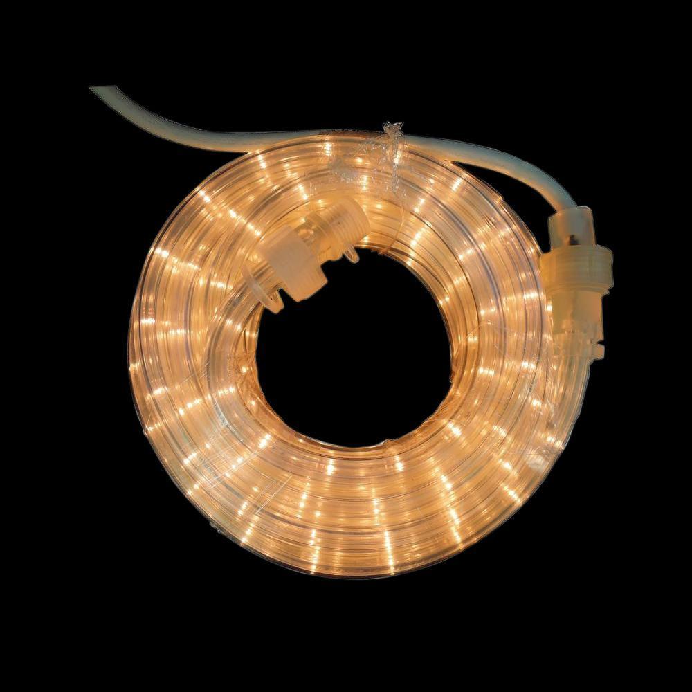 18 ft. 216-Light Clear Rope Light