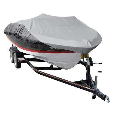BoatGuard Eclipse Boat Cover with Storage Bag, Tie-Down Straps and Support Pole for 75 in. Beams
