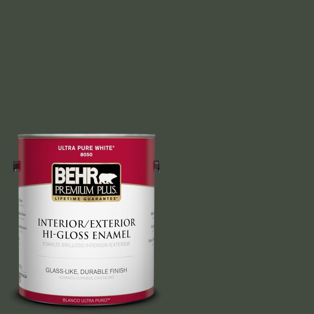 1-gal. #BXC-12 Deep Forest Hi-Gloss Enamel Interior/Exterior Paint