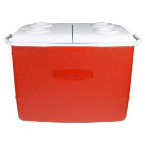 Click here to buy Rubbermaid 50 Qt. Insulated Modern Red Cooler by Rubbermaid.