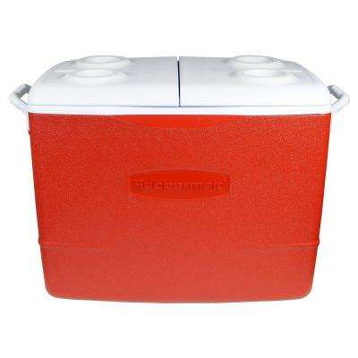 50 Qt. Insulated Modern Red Cooler