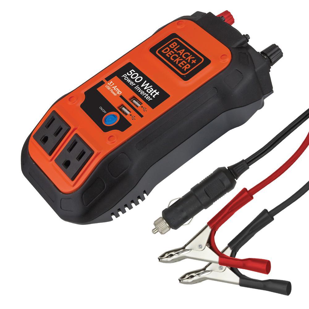 Black /& Decker Power Up Power On the Go 12V 100W Converter 3 pin In car Socket