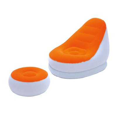 Inflate-A-Chair 48 in. x 37 in. x 32 in. Orange and White Comfort Cruiser